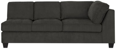 gray microfiber sectional sofas sure fit sofa pet cover chaise grey thesofa