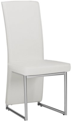 White Upholstered Chair Paris White Upholstered Side Chair