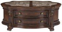 City Furniture: Regal Dark Tone Marble Storage Coffee Table