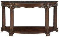 City Furniture: Regal Dark Tone Glass Sofa Table
