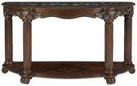 City Furniture: Regal Dark Tone Glass Sofa Table