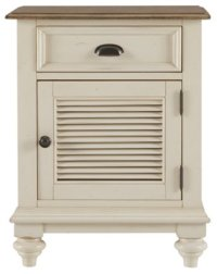 City Furniture: Coventry Two-Tone Door Nightstand