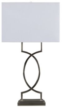 City Furniture: Rome Modern Silver Table Lamp