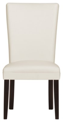 leather side chair home goods upholstered chairs delano white bonded