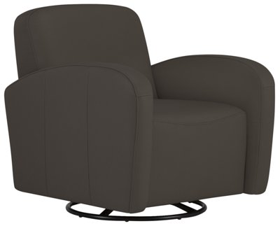 Black Accent Chairs Axis Dark Gray Vinyl Swivel Accent Chair