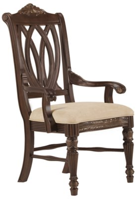 dark wood dining room chairs rent for party tradewinds tone arm chair