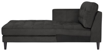 dark grey sectional sofa with chaise fabric color combination shae gray microfiber left living room
