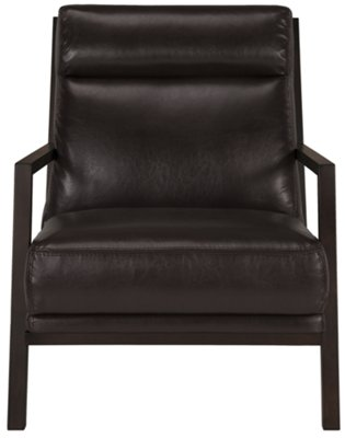 brown leather sofa accent chair dundee brando dark bonded