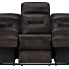 Gray Microfiber Power Reclining Sofa L Shape Phoenix Dark
