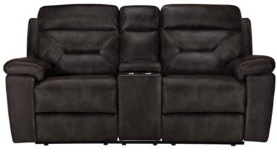 gray microfiber power reclining sofa chaise longue roche bobois city furniture phoenix dk