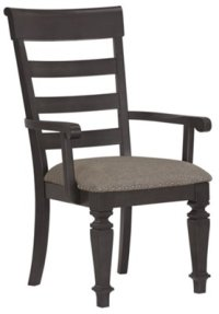 City Furniture: Emerson Gray Wood Arm Chair