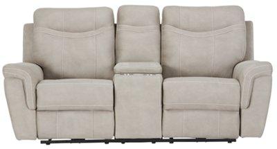 boardwalk sofa review folding mattress pewter microfiber power reclining console loveseat