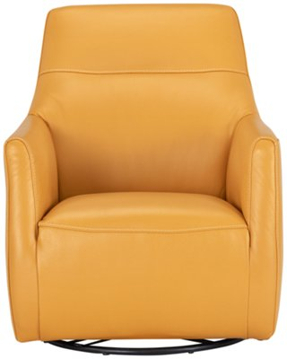 swivel chair mustard yellow kl design competition leather home ideas