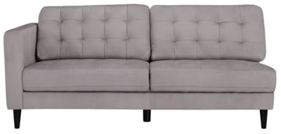 City Furniture Shae Light Gray Microfiber Right Chaise