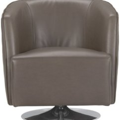 Accent Chair Swivel Retro Dining Room Table And Chairs Loki Dark Gray Microfiber