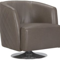 Swivel Accent Chairs Stakmore Folding City Furniture Loki Dk Gray Microfiber Chair