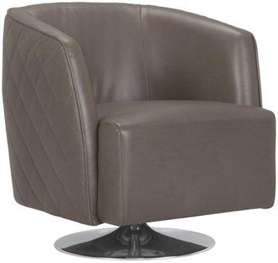 Loki Dark Gray Microfiber Swivel Accent Chair