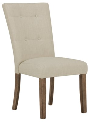 White Fabric Dining Chairs Emmett White Fabric Upholstered Side Chair