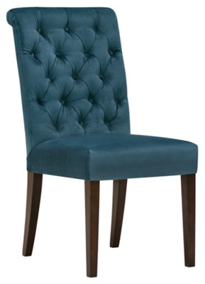 Blue Upholstered Dining Chairs City Furniture Sloane Dk Blue Upholstered Side Chair
