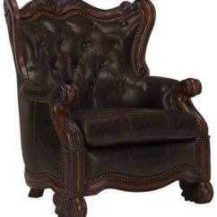 Leather Accent Chairs Ballard Designs Chair Covers City Furniture Regal Dark Tone