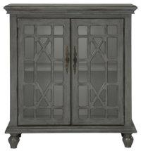 City Furniture: Alexis Gray Two-Door Cabinet
