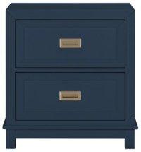 City Furniture: Ryder Dk Blue 2-Drawer Nightstand