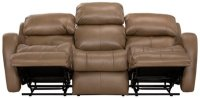 City Furniture: Finn Brown Microfiber Power Reclining Sofa