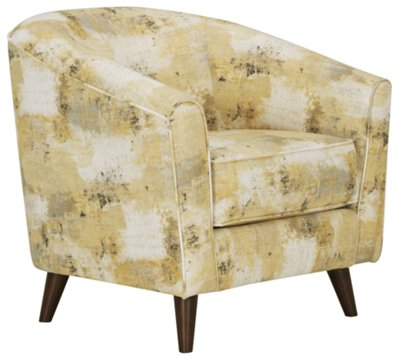 Yellow Living Room Chair Antalya Yellow Fabric Accent Chair