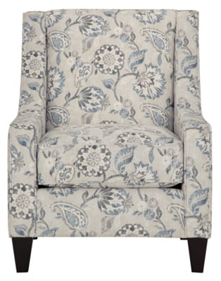 blue floral chair padded garden covers city furniture sylvie accent