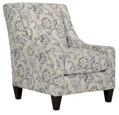 blue and white accent chair crown royal city furniture sylvie floral