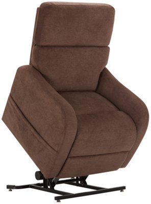 Electric Lift Chairs Nora Brown Fabric Power Lift Recliner