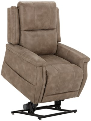 power lift chair crayola wooden table and set jude dark taupe microfiber recliner