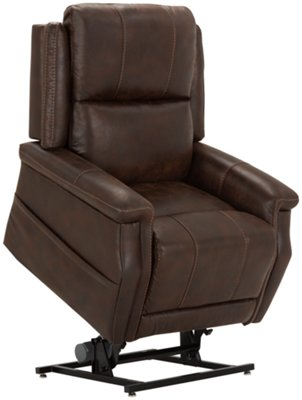power lift chair folding at lowes city furniture jude dk brown microfiber recliner