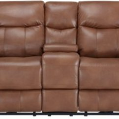 Microfiber Sofa And Loveseat Recliner Mission Style City Furniture Wallace Medium Brown Power