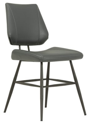 gray upholstered dining chairs under chair mat gunnar side