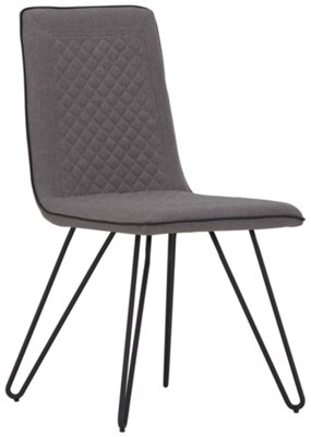 gray side chair melissa and doug table chairs gabe fabric upholstered