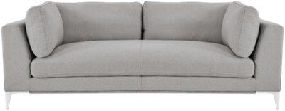 gray fabric sofa chair sleeper for studio apartment 3 seater sofas thesofa