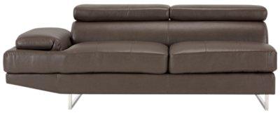 gray microfiber sectional sofas swivel sofa chair cheap city furniture tatiana dark right chaise