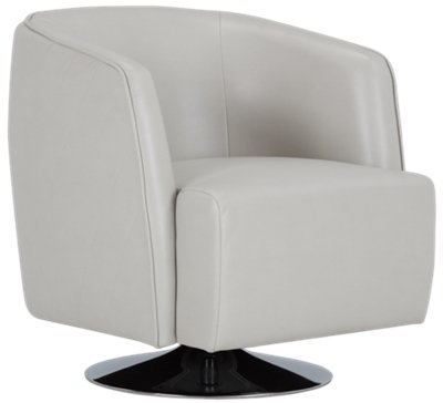 Light Gray Accent Chairs Alec Light Gray Microfiber Swivel Accent Chair