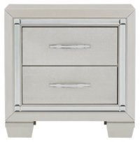 City Furniture: Platinum Silver Nightstand