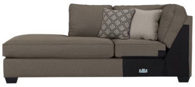 beige microfiber sectional sofa with storage chaise ashley sleeper mattress city furniture calicho dark taupe left