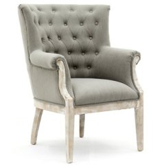 Gray And White Accent Chairs Reupholstered Dining Paxton Fabric Chair