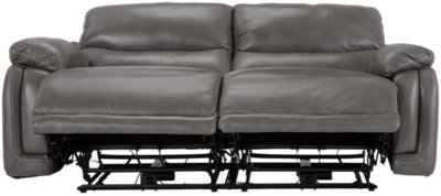 grey power reclining sofa white sectional leather city furniture vince gray