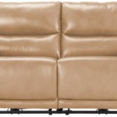 Taupe Color Leather Sofa Teal Sectional City Furniture Vince Power Reclining