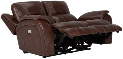 deacon leather power reclining sofa reviews white faux uk city furniture memphis medium brown
