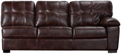 dark brown microfiber sofa end table uk city furniture henry left bumper