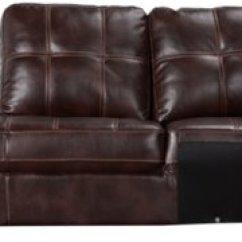 Dark Brown Microfiber Sofa Dr Bronx City Furniture Henry Left Bumper