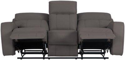 gray microfiber power reclining sofa willow and hall beds rhett