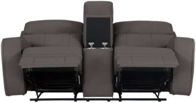 gray microfiber power reclining sofa beds shops twickenham rhett console loveseat