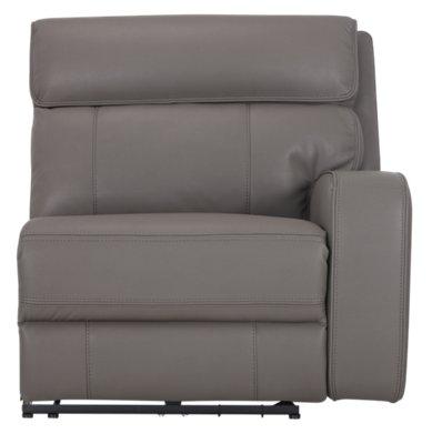 gray microfiber power reclining sofa leather scratch repairs city furniture rhett large two arm